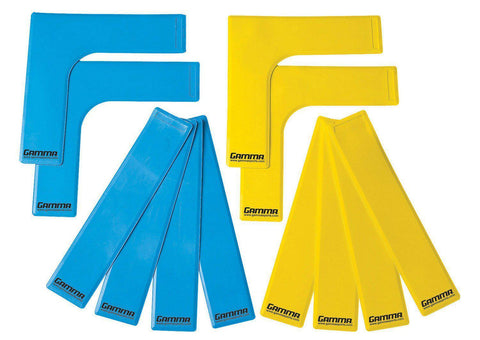 Gamma Court Marker Lines, Yellow/Blue [product _type] Gamma - Ultra Pickleball - The Pickleball Paddle MegaStore