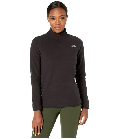 The North Face Women's TKA Glacier Quarter Zip, TNF Black/TNF Black, S