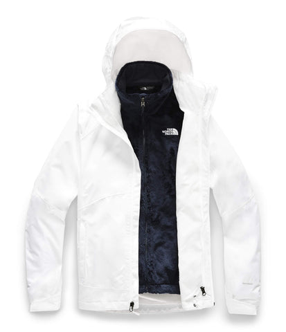 The North Face Women's Osito Triclimate Jacket, TNF White/TNF White, Small