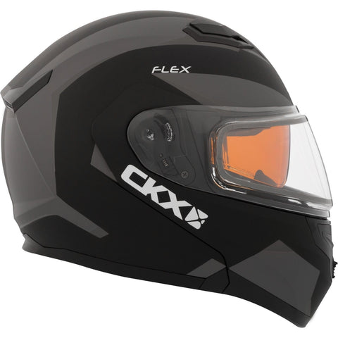 Snowmobile Helmet Modular Flip Up CKX Flex RSV Control Grey Black Mat 3XLarge XXX-Large