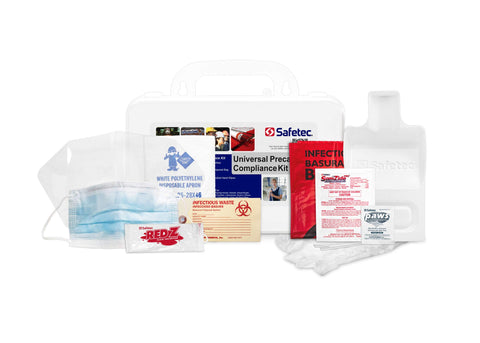 Safetec Universal Precaution Compliance Spill Kit (Hard case) for Blood and Bodily Fluid Spills (Pack of 2 Kits)