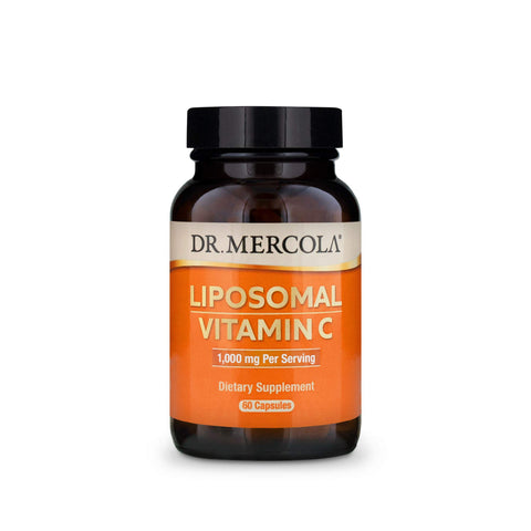 Dr. Mercola Liposomal Vitamin C Dietary Supplement, 1,000mg per Serving, 90 Servings (180 Capsules), Immune Support, Non GMO, Soy Free, Gluten Free