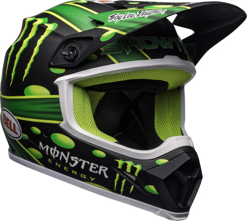 Bell MX-9 MIPS Off-Road Motorcycle Helmet (Showtime Replica Matte Black/Green, Medium)
