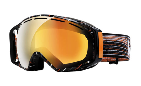 Bolle Gravity Goggles, Grey and Orange Waves, Aurora Lens