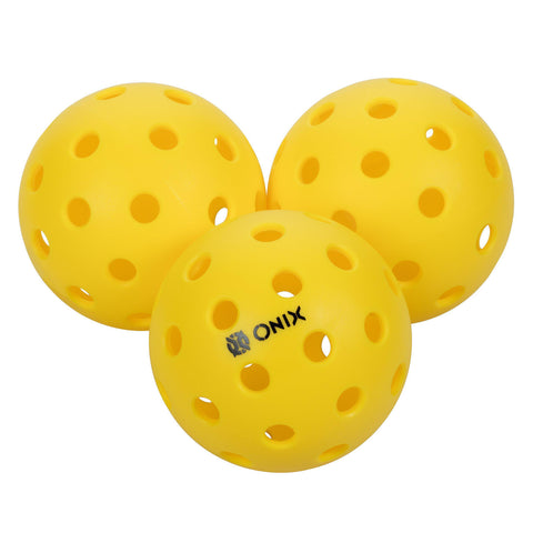 Onix Pure 2 Outdoor Pickleball Balls Weighted Heavier for Extreme Outdoor Conditions (Yellow, 3-Pack) [product _type] Onix - Ultra Pickleball - The Pickleball Paddle MegaStore