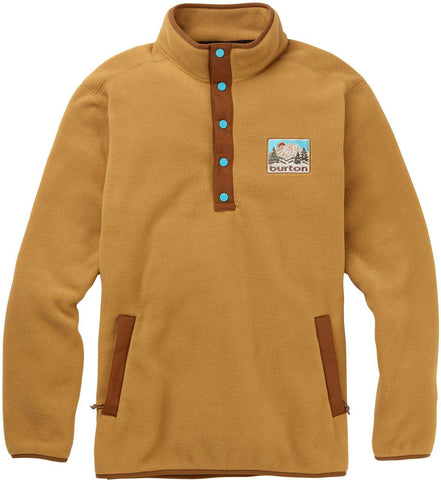 Burton Men's Hearth Fleece Anroak Pullover, Wood Thrush, Medium
