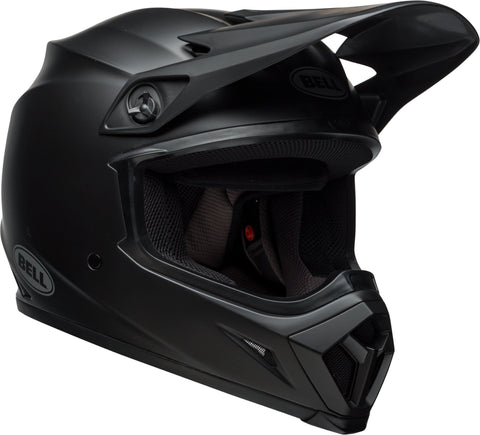 Bell MX-9 MIPS Equipped Motorcycle Helmet (Solid Matte Black, Medium)
