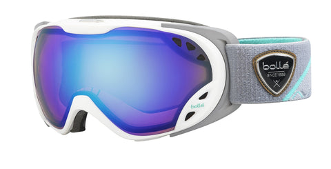 Bolle Winter Duchess Light Control 21626 Modulator Ski Goggles, White/Grey