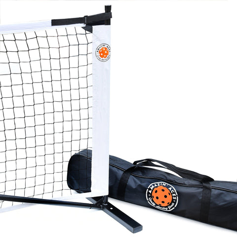 Amazin' Aces Portable Pickleball Net | Premium Net Set Includes Easy-Snap Metal Frame, Tension Strap Net, Carry Bag for Easy Carry | Regulation Size Pickle Ball Net [product _type] Amazin' Aces - Ultra Pickleball - The Pickleball Paddle MegaStore