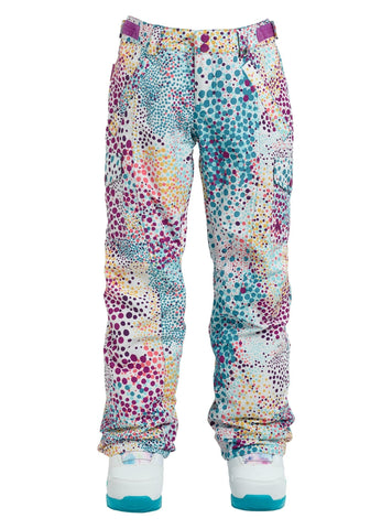 Burton Girls' Elite Cargo Snow Pant, Stout White Dots, Large