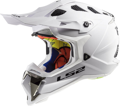LS2 Helmets Motorcycle & Powersports Helmet's Off-Road Subverter (White, Large)