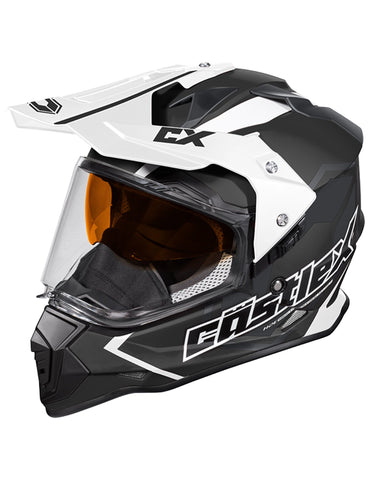 Castle X Mode Dual-Sport SV Team Snowmobile Helmet (LRG, Black)