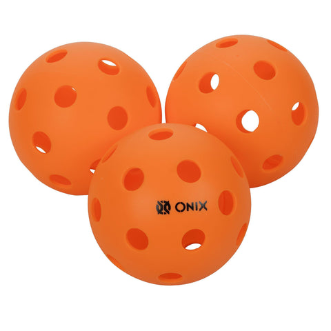 Onix Pure 3 Indoor Pickleball Balls - (1-Pack 3 balls, Orange) [product _type] Onix - Ultra Pickleball - The Pickleball Paddle MegaStore