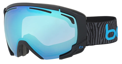 Bolle Supreme OTG Matte Modulator 2.0 Vermillion Blue NXT Googles, Black/Neon Blue, One Size