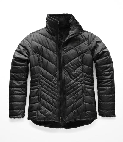 The North Face Women's Mossbud Insulated Reversible Jacket, TNF Black, Large