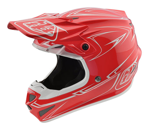 2018 Troy Lee Designs SE4 Polyacrylite Pinstripe Helmet-Red-S