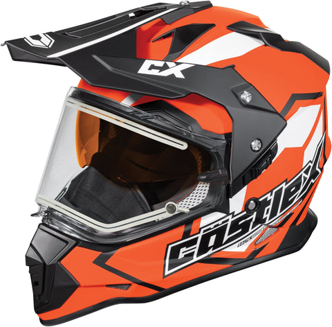 Castle X Mode Dual-Sport SV Team Electric Snowmobile Helmet (LRG, Flo Orange)