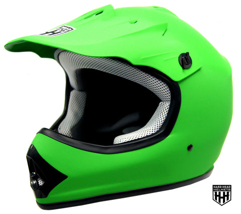 SmartDealsNow - HHH DOT Youth & Kids Helmet for Dirtbike ATV Motocross MX Offroad Motorcyle Street bike MATTE GREEN (Large)