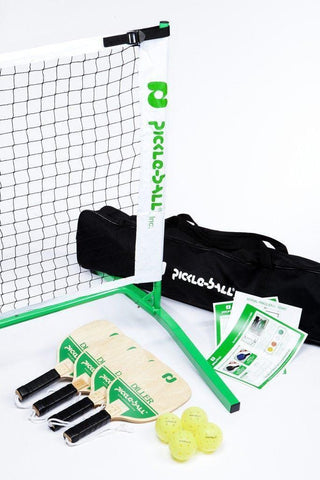 Taiwan Diller Set - Portable Net System/Four Wood Paddles/Balls [product _type] Pickleball Inc - Ultra Pickleball - The Pickleball Paddle MegaStore