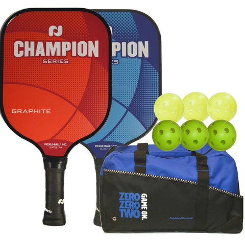 Rally Champion Pickleball Bundle - 2 Graphite Paddles/6 Balls/Duffle Bag [product _type] Pickleball Inc - Ultra Pickleball - The Pickleball Paddle MegaStore