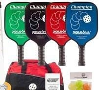 Rally Deluxe Pickleball Champion Set - 4 Graphite Paddles/Net System/Balls/Line Tape/Bag/Rules [product _type] Ultra Pickleball - Ultra Pickleball - The Pickleball Paddle MegaStore