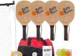Rally Meister Pickleball Set - 4 Wood Paddles/Net System/Balls/Bag.Line Tape/Rulebook [product _type] Rally - Ultra Pickleball - The Pickleball Paddle MegaStore