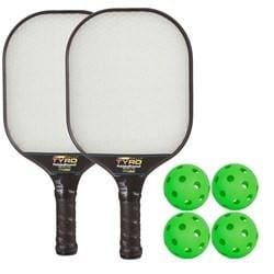 Rally Tyro Pickleball Composite Bundle - 2 Paddles/4 Balls [product _type] Rally Meister - Ultra Pickleball - The Pickleball Paddle MegaStore