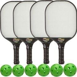 Rally Tyro Pickleball Composite Bundle - 4 Paddles/6 Balls [product _type] Rally Meister - Ultra Pickleball - The Pickleball Paddle MegaStore