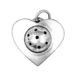 Sterling Silver Pickleball Heart Pendant [product _type] Ultra Pickleball - Ultra Pickleball - The Pickleball Paddle MegaStore