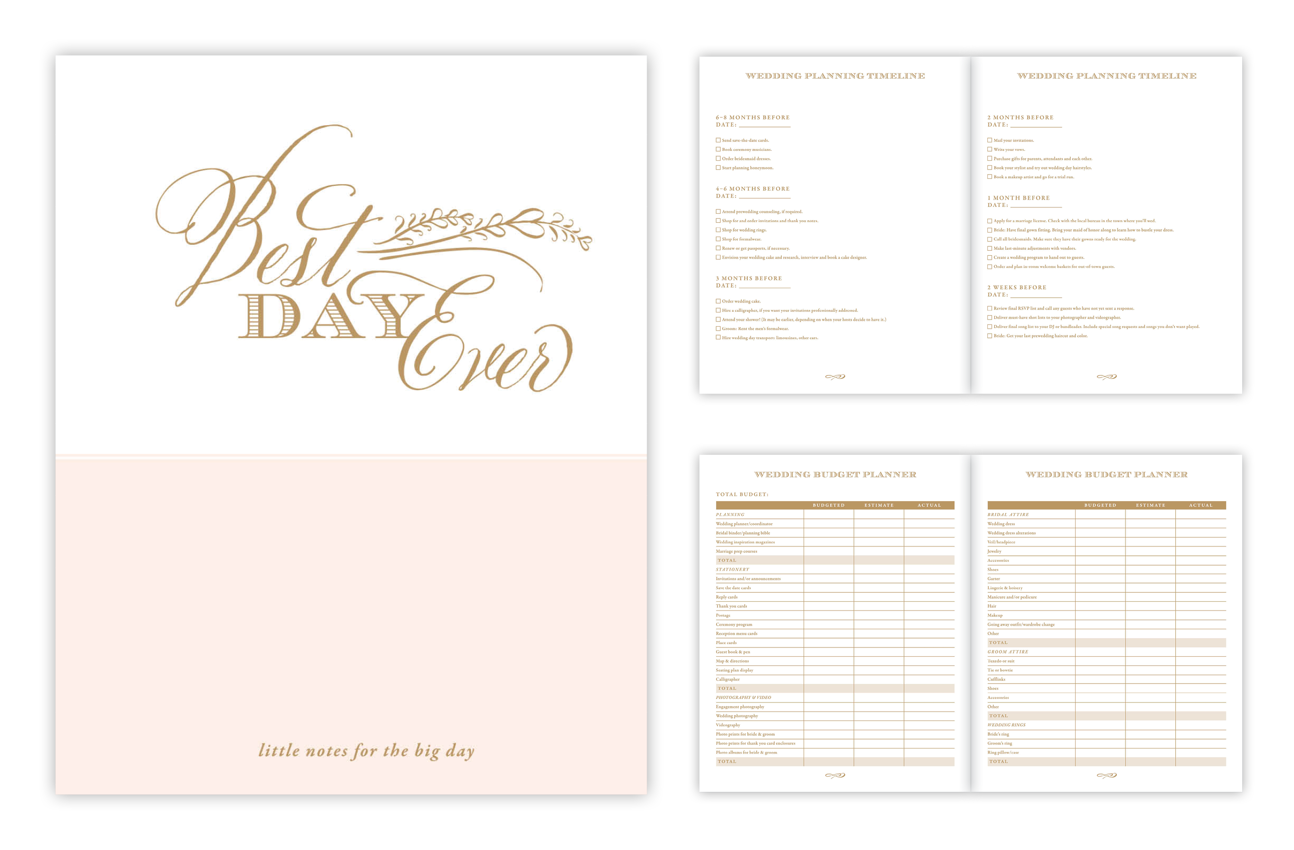 c32bb503db4f1 Rosanne Beck Collections Bridal Journal and Wedding Planner Combo Set (to  The Future Mrs. Wedding Journal and Best Day Ever Luxe Wedding Planner)