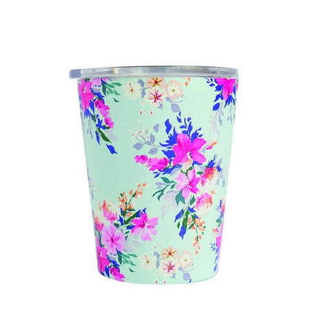 Mary Square Stemless  Coffee Tumbler with Lid - Lexington Floral