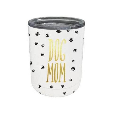 Mary Square Stemless  Coffee Tumbler with Lid - Dog Mom