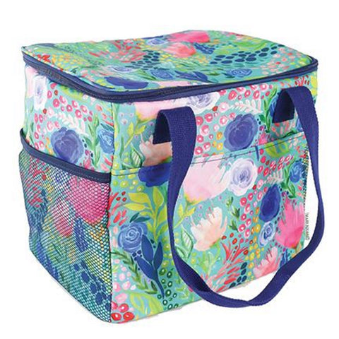 Mary Square Insulated Cooler Tote - Tropical