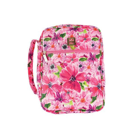 Mary Square Bible Cover Cambridge Pink Floral