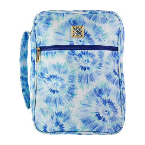 Mary Square Bible Cover Blue Navy Tie Dye Blue Rush