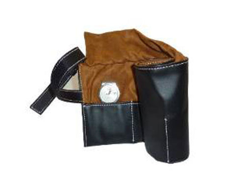 6 Watch Black Leatherette Travel Watch Pouch and Organizer