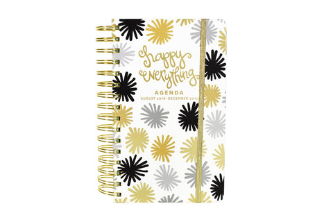 Coton Color 17-Month 2017 Mini Agenda- Pom Happy Everything