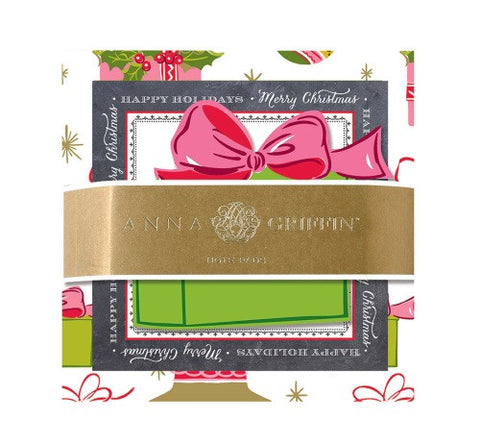 Anna Griffin Set of 3 Pads Christmas Holiday Chalkboard