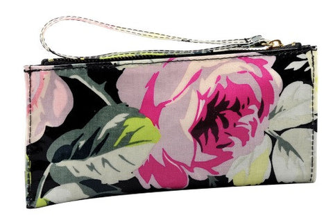 Anna Griffin Grace Black Flower Mini Wristlet