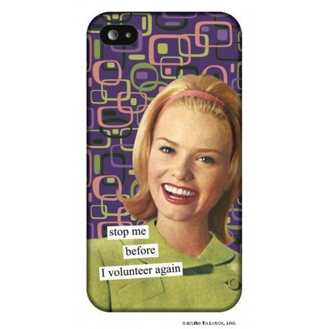 "Anne Taintor ""Stop me before I volunteer again"" Snap-On Case for iPhone 4/4s"