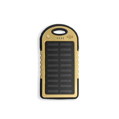 Beam Bank Portable Power Bank & Solar Charger- Gold