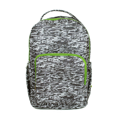 Mary Square Backpack - Gray Lines