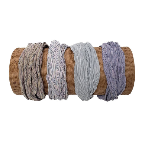 Bamboo Trading Company Boho Wide Headbands - Set of 4 Cabana Stripe Headwraps