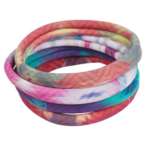 Bamboo Trading Company Boho Hairbands Hair Ties - Set of 8 Free Spirit Print Hairwraps
