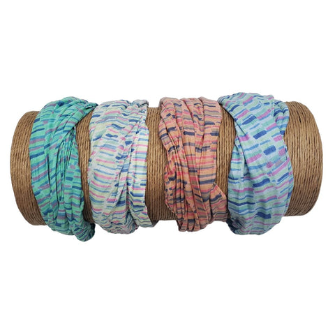 Bamboo Trading Company Boho Wide Headbands - Set of 4 Fun Striped Print Headwraps