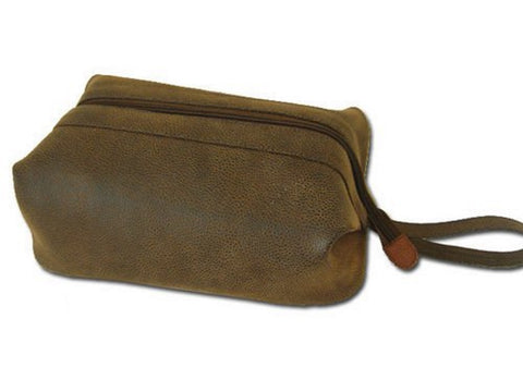 Bellemonde Men's Travel Dopp Kit- Brown