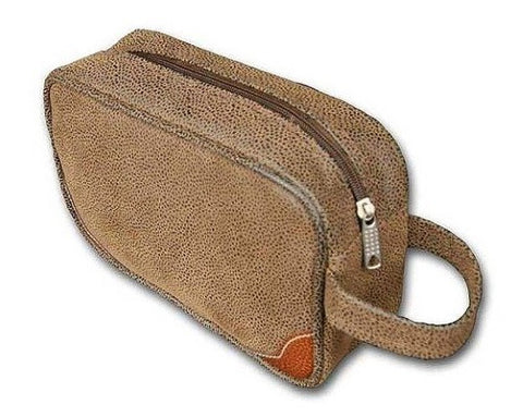 Bellemonde Men's Small Travel Dopp Kit- Scotch Grain Brown