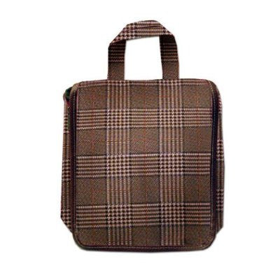 Bellemonde Men's Hanging Travel Bag- Brown Plaid
