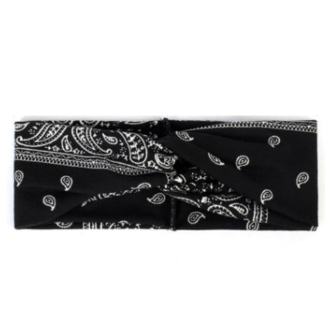 Headbands of Hope Protective Ear Button Headbands for Face Masks - Black Paisley