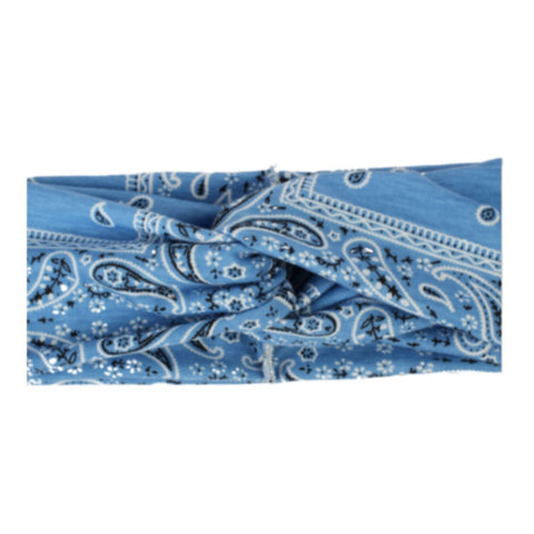 Headbands of Hope Protective Ear Button Headbands for Face Masks - Blue Paisley